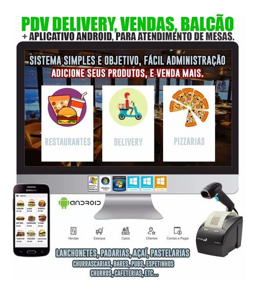 Sistema Pdv Fluxo Caixa Estoque Comanda Lanchonete C/ Mobile