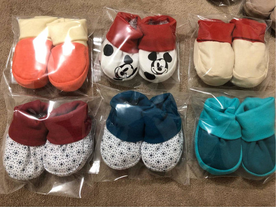 10 Sapatinhos Ou Conjuntos De Touca E Luva Bebê P/ Menina Rn