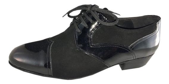 Zapato De Baile Tango Salsa Rock Fiestas Charol Y Gamuza