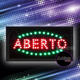 Painel De Led Letreiro Luminoso Placa Aberto - 220v