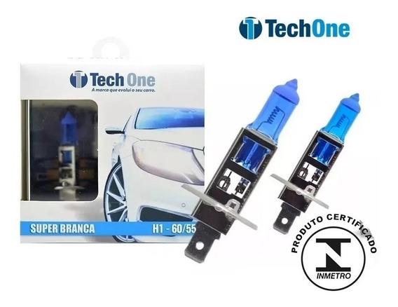 Par Lampada Super Branca H1 8500k Tipo Xenon 12v 55w Techone