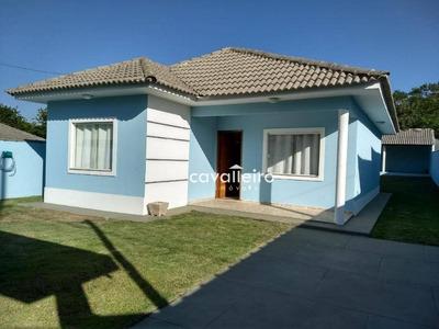Casa 3 Quartos, Móveis Planejados, Churrasqueira, Cajueiros, Maricá. - Ca3055