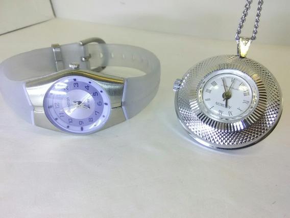 Bonito Reloj Armitron Deportivo Y Reloj De Bolsillo O Collar