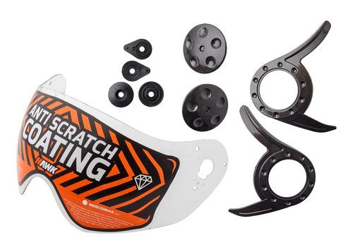 Repuesto Hawk Rs9 Kit Visor C/mecanismo Gris Casco Moto Of