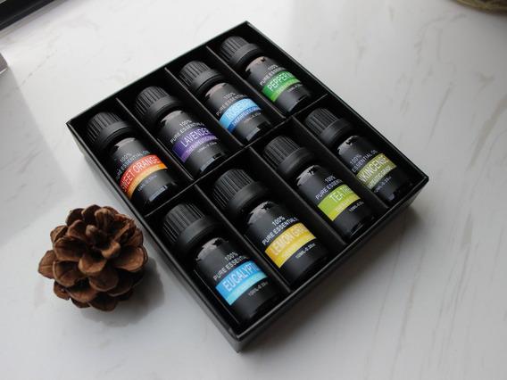 Kit De 8 Aceites Esenciales 100% Natural 100% Puro En Caja