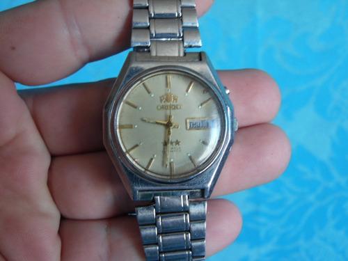 Relógio Pulso Orient Automatico Calendario Sextavado