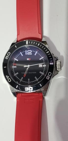 Relógio Tommy Hilfiger - Masculino - Pulseira Vermelha