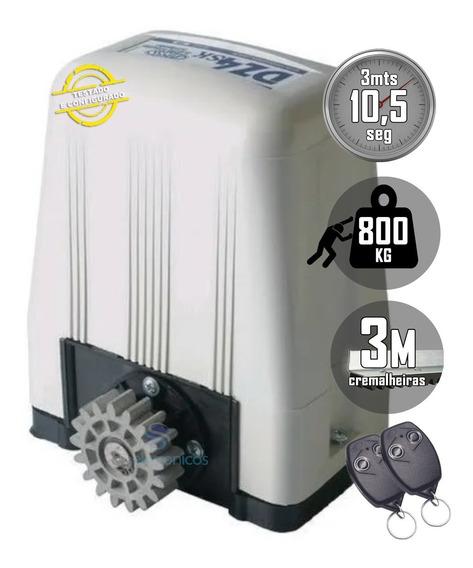 Kit Motor Portão Deslizante Rossi Dz4 Turbo Completo