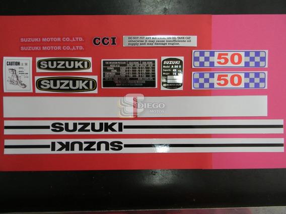 Kit De Adesivos Da Época Cpt (réplica) Suzuki A-50 72 A 75