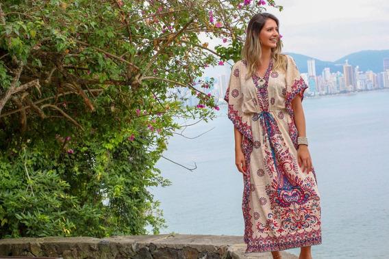 Vestido Longo Tipo Kaftan Indiano Longo Roupas Indianas