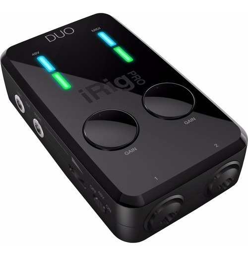Irig Pro Duo - Interface Audio E Midi iPhone iPad Android Pc