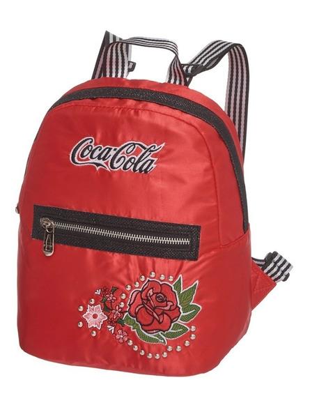 Mini Mochila Vintage Rose Coca Cola Original Pacific