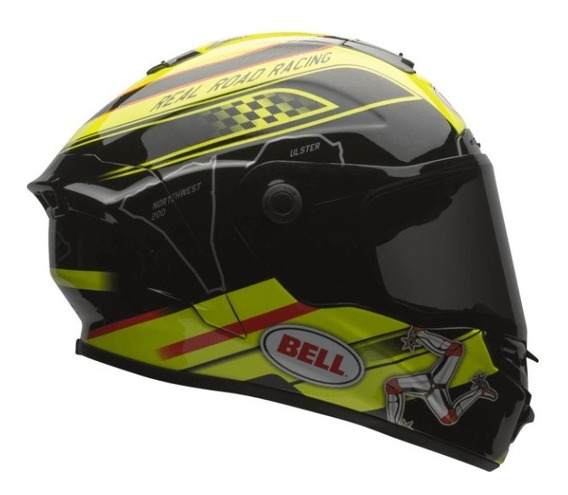 Capacete Bell Star Isle Of Man Amarelo + Brinde, Chat 24h