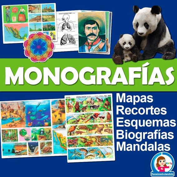 Paquete Monografias Biografias Esquemas Mapas Mandalas 7gb