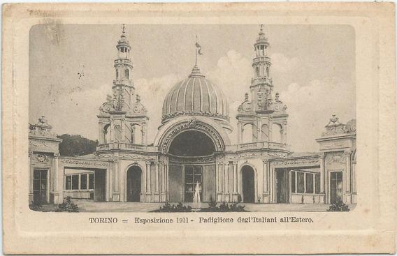 Antigua Postal Exposición Torino, Italia 1911