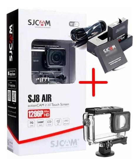 Câmera Esportiva Sjcam Sj8 Air Original + Kit Bateria