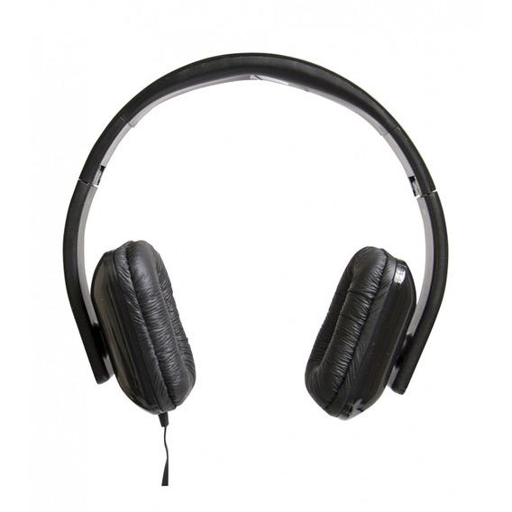Fone De Ouvido Dobrável Com Microfone Preta