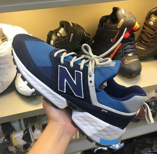 Tênis Casual Nb 574 Sport V2   Lifestyle Masculino Azul