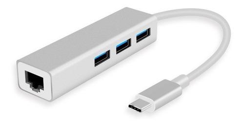 Imagen 1 de 3 de Adaptador Usb C 3.1 A Ethernet Internet Red Macbook Hub