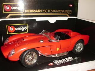 Carro Coleccion Burago Ferrari Testa Rossa 1957 Escala 1:18