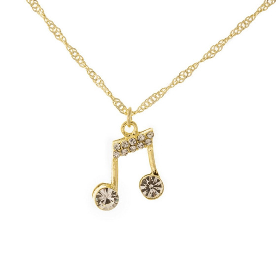 Colar Delicado Dourado Nota Musical Dourado