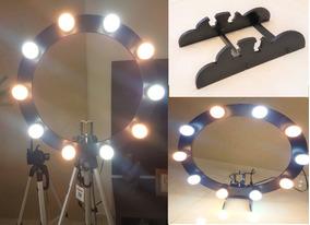 Ring Light 10 Soquetes E27 + Tripé + Kit Selfie