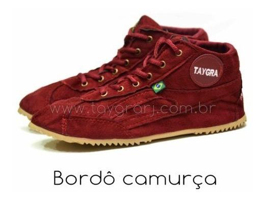Taygra Botinha Bordô Camurça