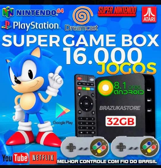 Retro Box - Video Game Retro Com 16.000 Jogos Antigos 32gb