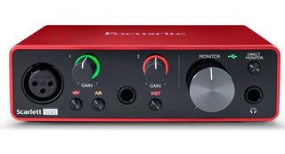 Focusrite Scarlett Solo 3ra Generacion Placa De Audio Usb Grabacion Estudio Dj Produccion En Stock