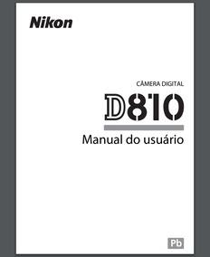 Manual Em Português Para Câmera Nikon D810