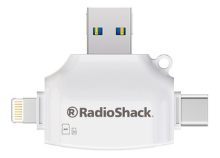 Lector De Tarjetas 4 En 1 Radioshack (blanco) | 84996