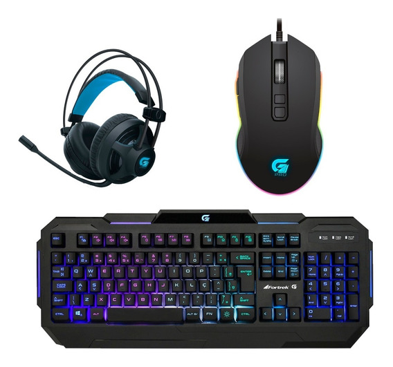Kit Gamer Pc Barato Mouse Pro M3, Headset Pro H2, Teclado K1