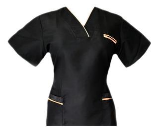 Filipina Quirúrgica De Dama Color Negro Con Dorado
