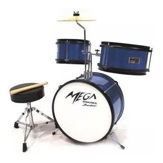 Bateria Infantil Mega Drums 3 Cuerpos Niños Platillos Comple