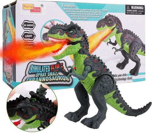 Imagen 1 de 9 de Dinosaurio Rex De Juguete Con Luces Y Sonido Regalo Sorpresa