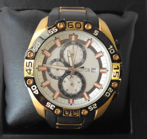 Reloj Lotus Caballero Cronografo Caucho.