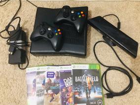 Xbox 360 Slim 2 Controles 1kinect, Fonte, Cabo Hdmi, 5 Jogos