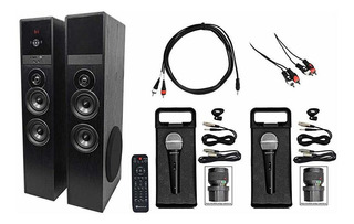 Rockville All-in-one Bluetooth Home Theater Karaoke Machin ®