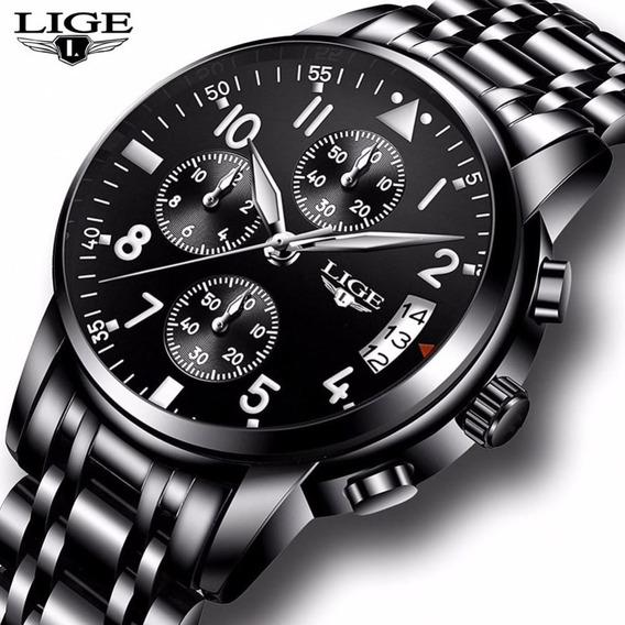 Relógio Masculino Lige 9825 Original Mais Brinde