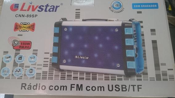 Caixa De Som Bluetooth Livstar Cnn-89sp