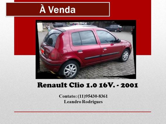 Renault Clio 1.0 16v. 01 - Vermelho