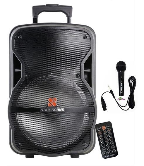 Caixa De Som C/bateria Bluetooth 100w Rms Star Sound Staner