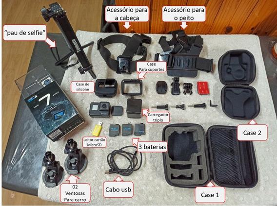 Câmera Gopro Hero 7 Black + Varios Acessorios