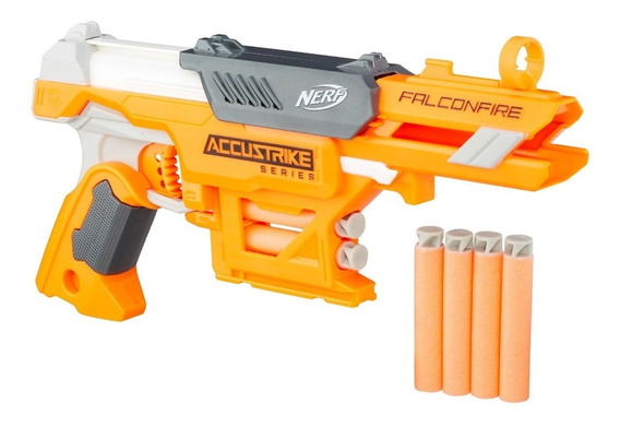 Nerf Lançador De Dardos Accustrike Falconfire Maior Precisão