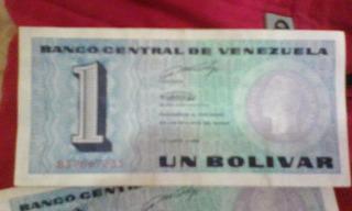 Billetes De 1 Bolivar 1989 Famoso Tinoquito