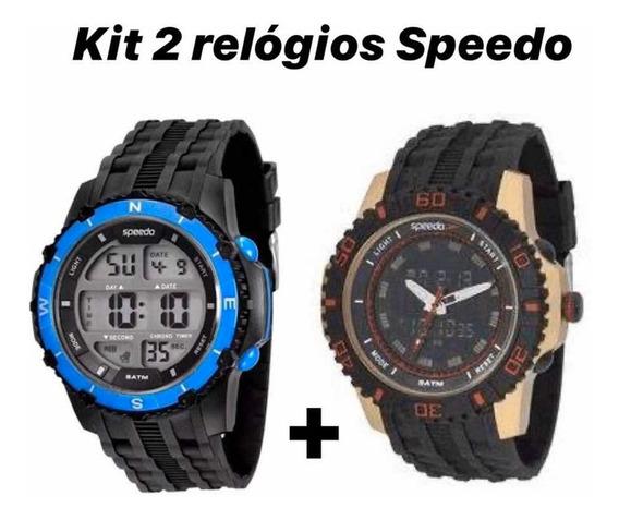 Kit 2 Relógios Speedo Digital Masculinos Esportivos Gar/fabr