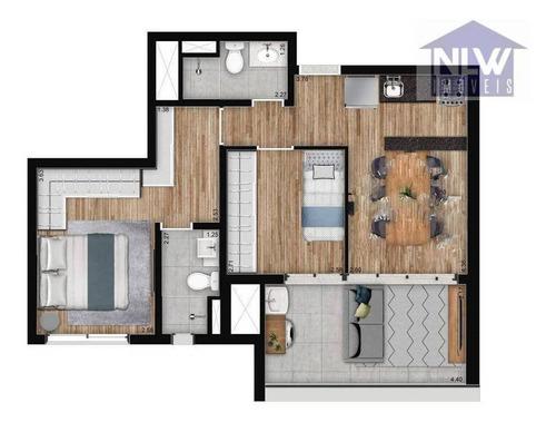 Imagem 1 de 23 de Apartamento Com 2 Dormitórios À Venda, 58 M² Por R$ 699.000,00 - Brooklin - São Paulo/sp - Ap3262