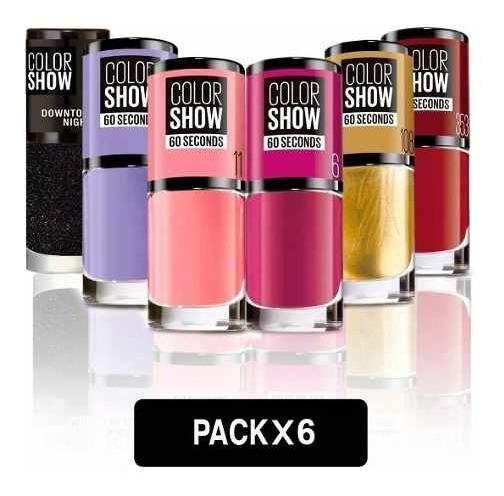 Pack 6 Esmaltes De Uña Color Show Maybelline