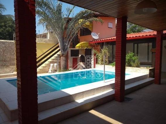 Casa Com 4 Dormitórios À Venda, 316 M² Por R$ 850.000,00 - Serra Grande - Niterói/rj - Ca1094