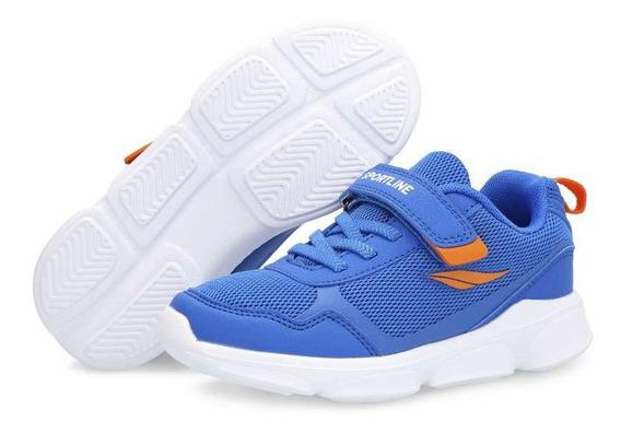 Tenis Azules Marca Sportline Para Niño